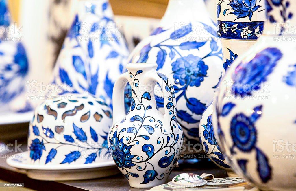 Ceramic vase- ceramics plate stock photo