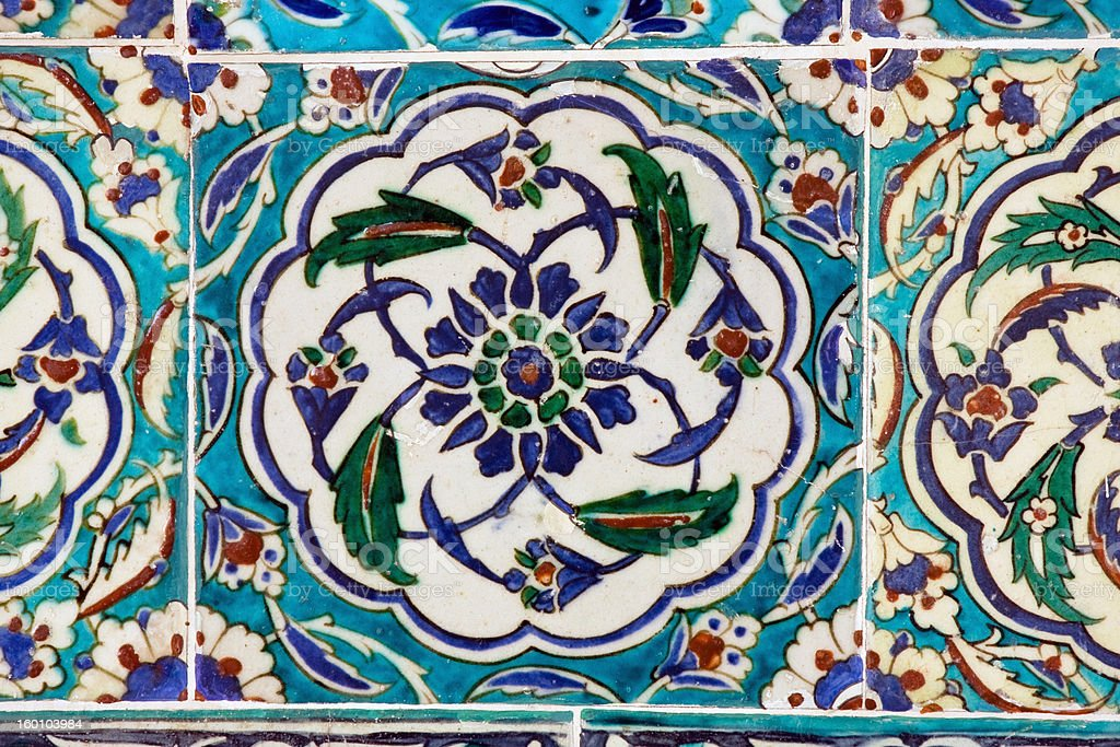 Ceramic wall tiles in Topkapi Palace stock photo
