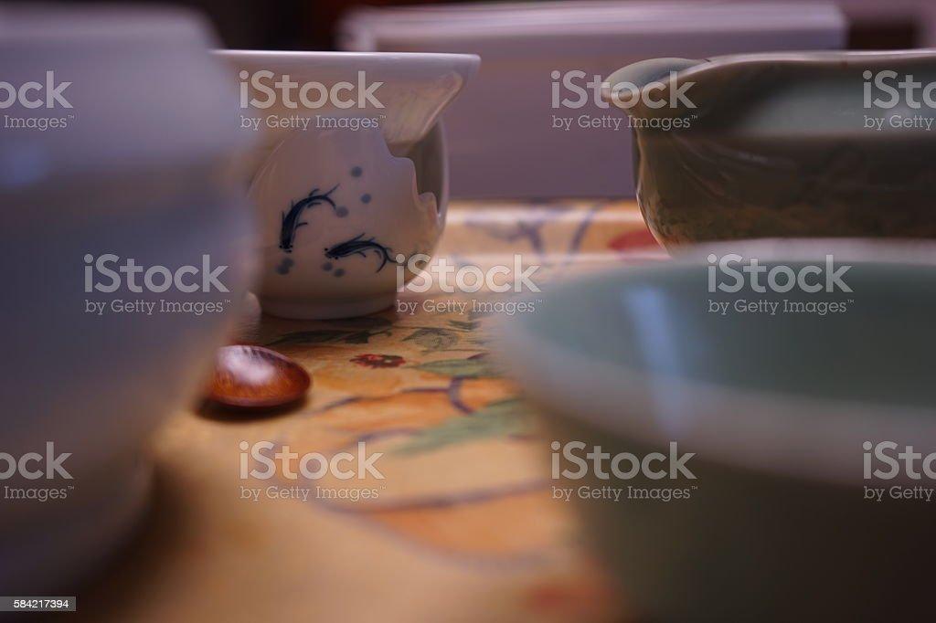 ceramics of tea stock photo