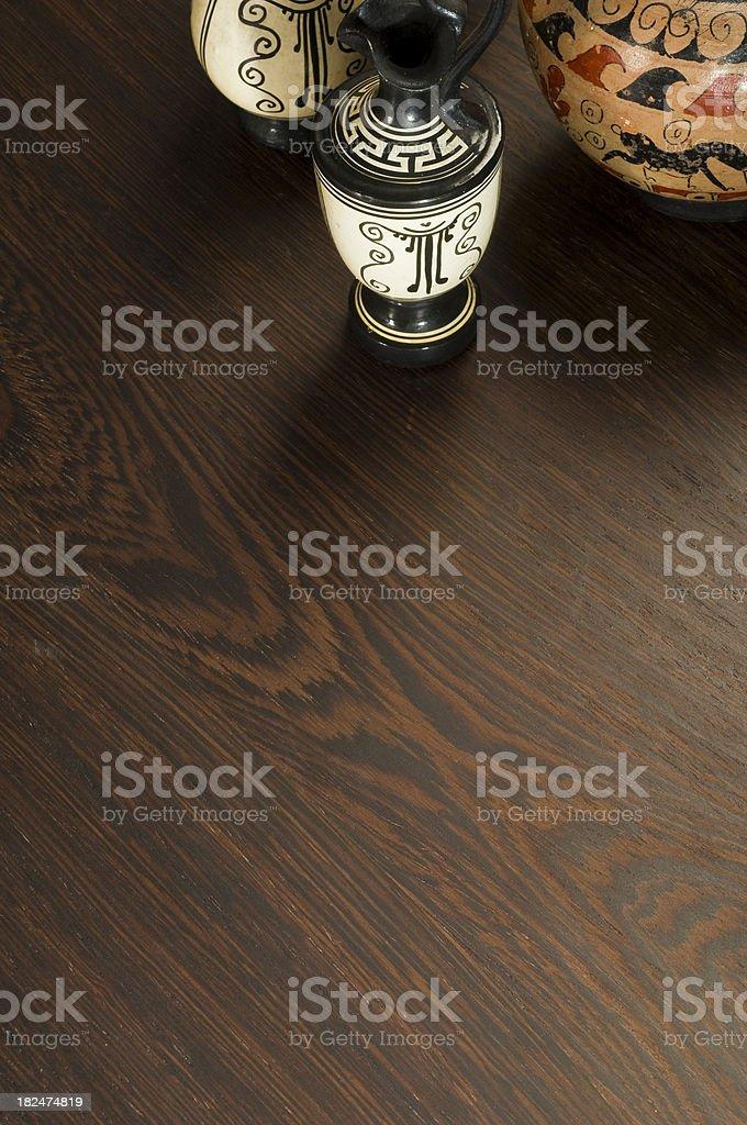 Ceramics on Hardwood Floor royalty-free stock photo