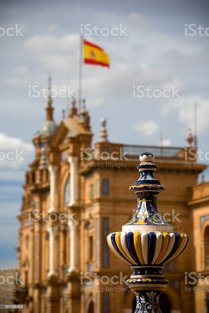 Ceramics on Plaza de Espana royalty-free stock photo