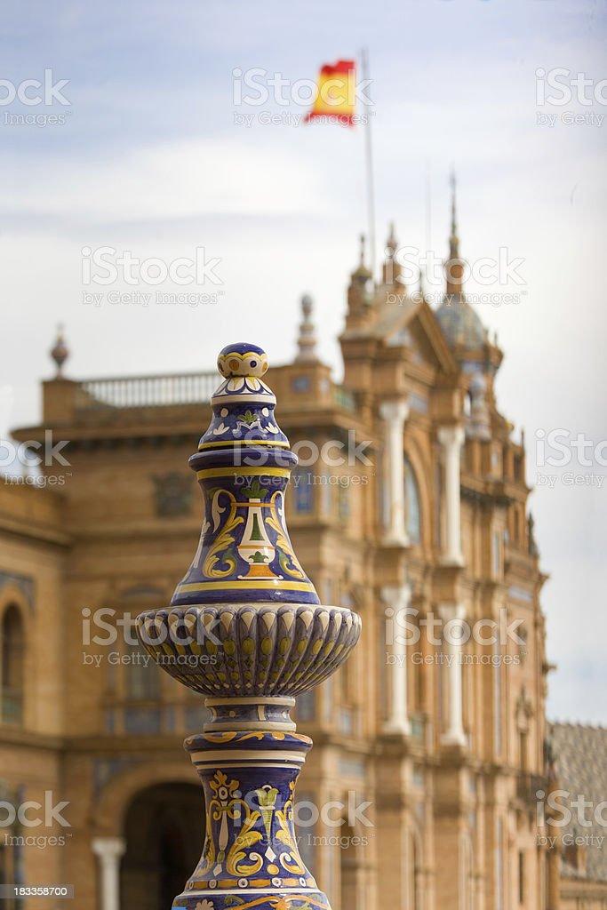 Ceramics on Plaza de Espana royalty-free stock photo