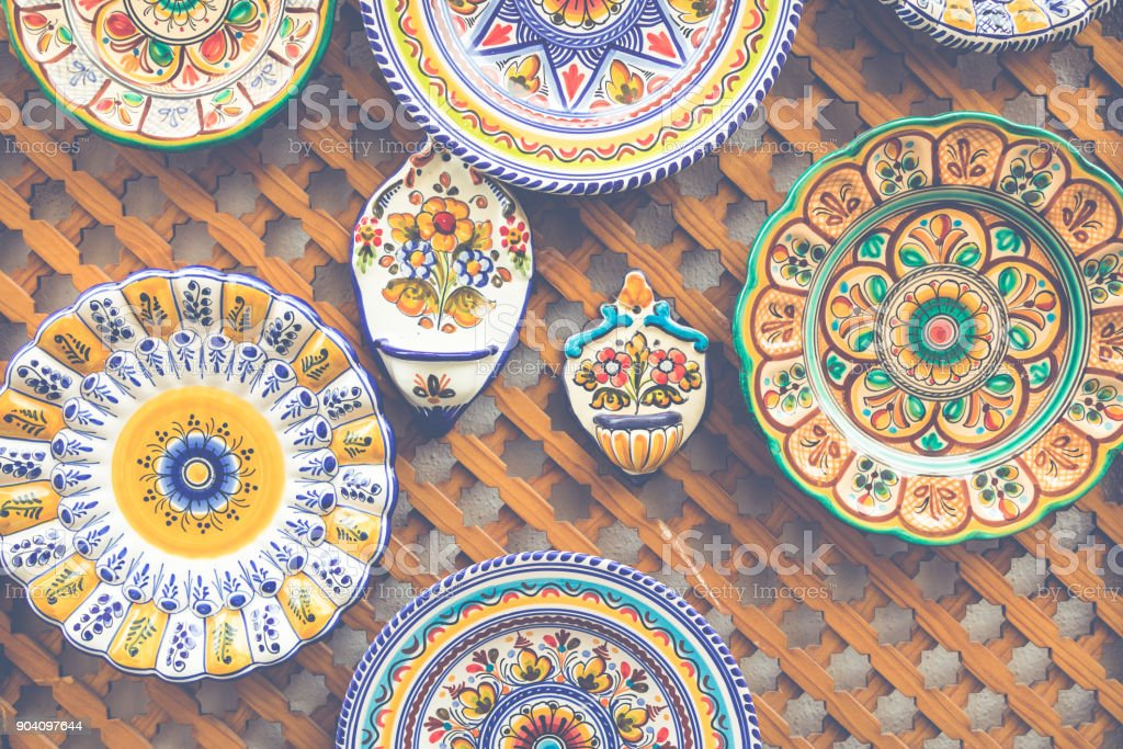 Ceramics Plates At Local Souvenir Shop In Cordoba Andalusia Spain Stock  Photo - Download Image Now