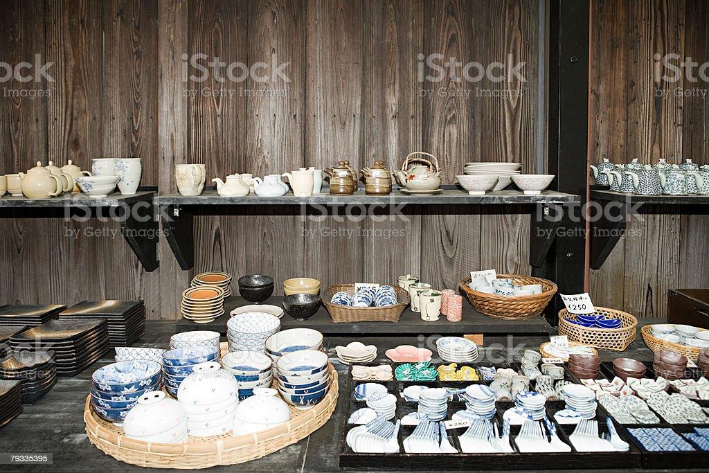 Ceramics shop in japan royalty-free 스톡 사진