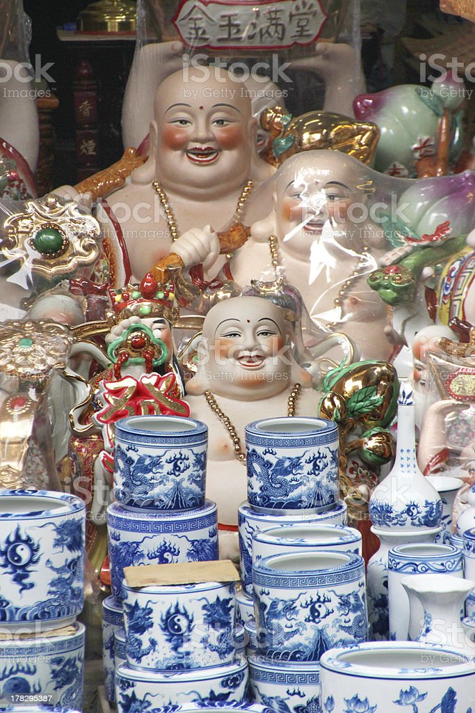Ceramics stall in Hanoi stock photo