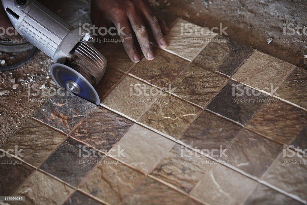 Ceramics Tile works royalty-free stock photo
