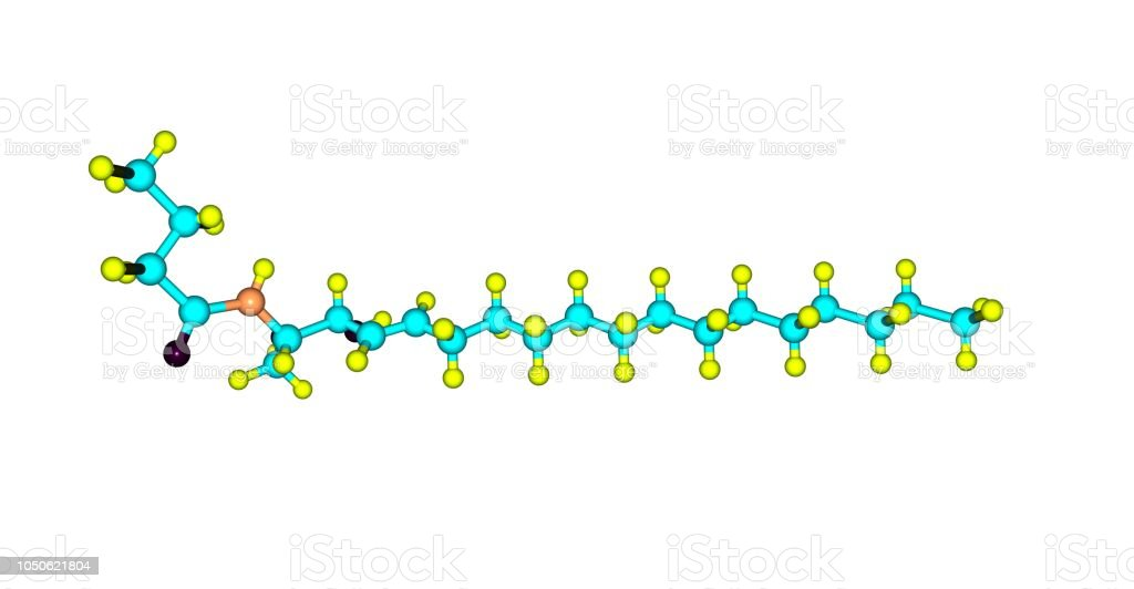 Ceramide molecular structure isolated on white stock photo