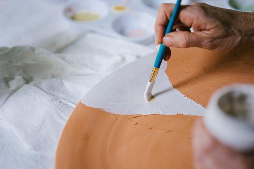 Ceramist at work