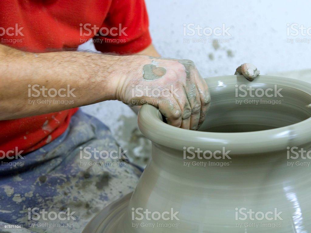 Ceramist royalty-free stock photo