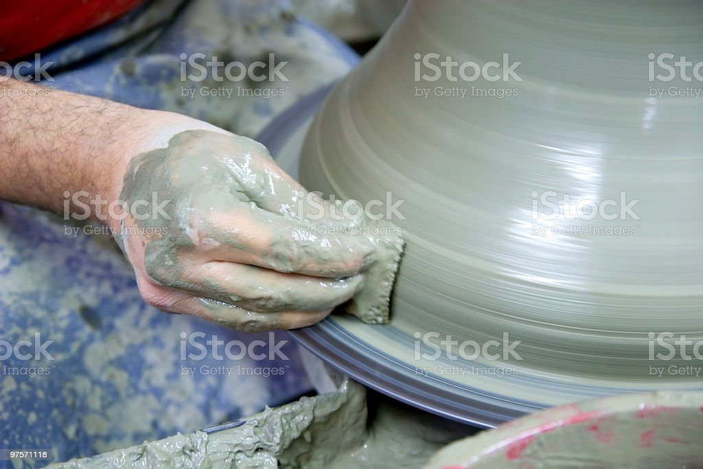 Ceramist royalty-free stock photo