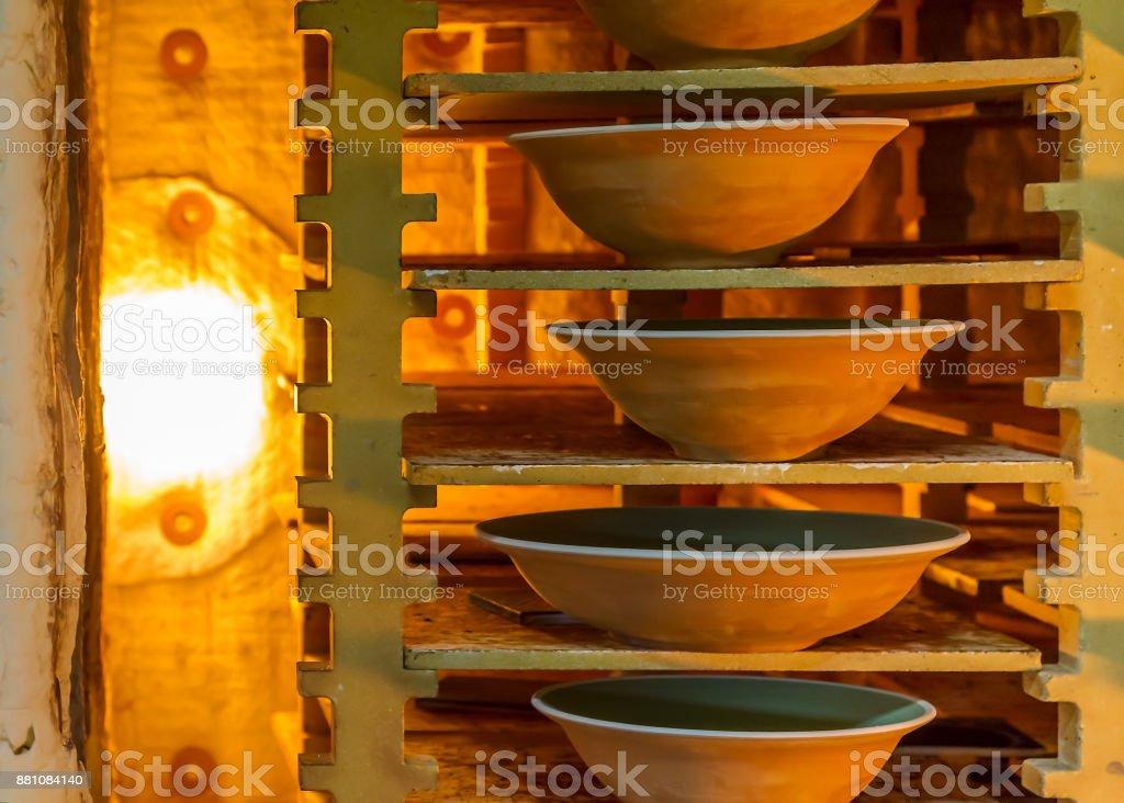 Ceramist workshop stock photo