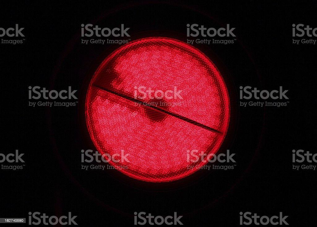Ceran burner glowing stock photo