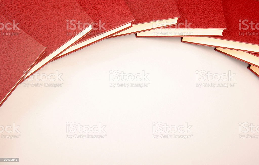 Cercle Red Books royalty-free stock photo