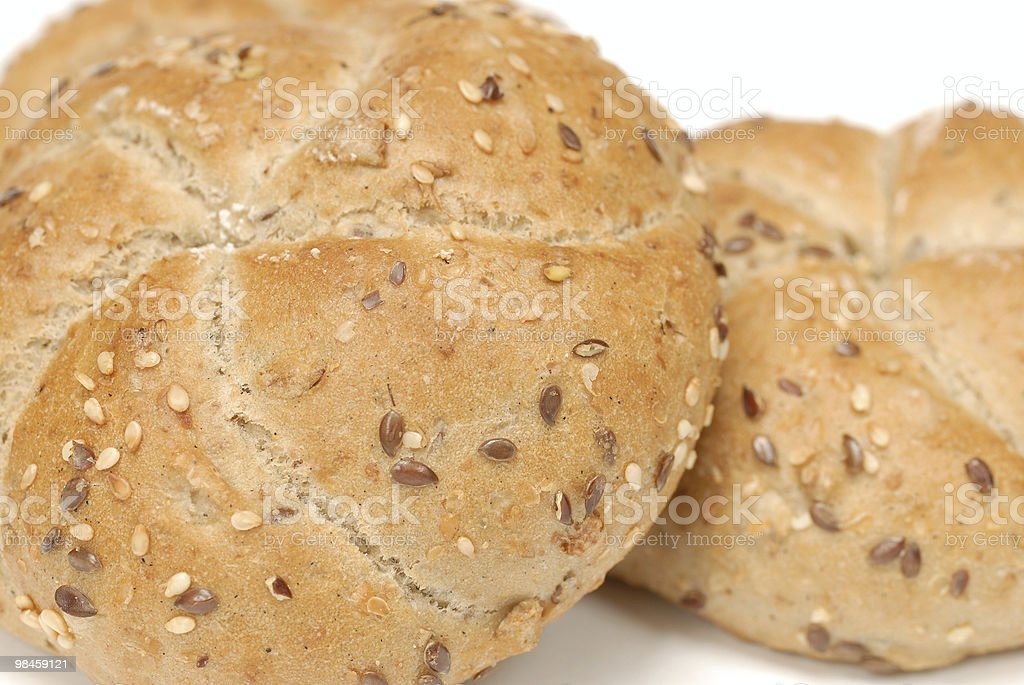 Cereaal rolls isolated over white background royalty-free stock photo
