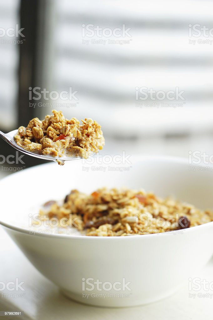 Cereal breakfast royalty free stockfoto