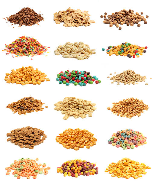Cereal Collage stock photo