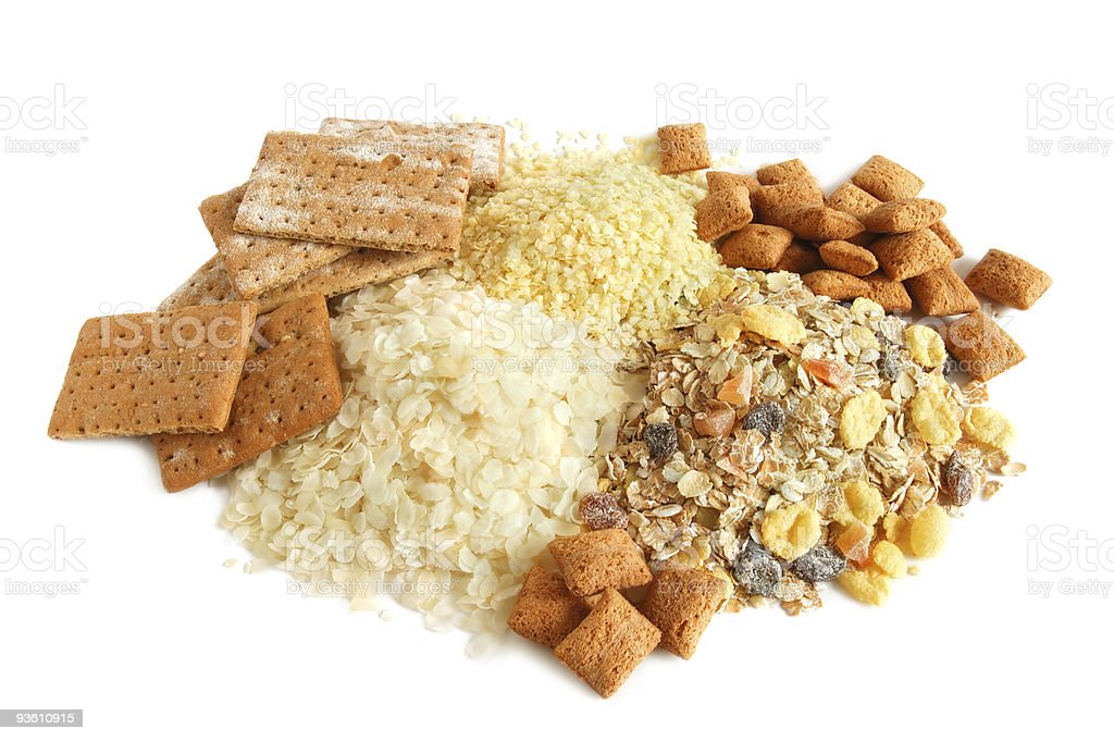 Cereal, cracker and muesli royalty-free stock photo