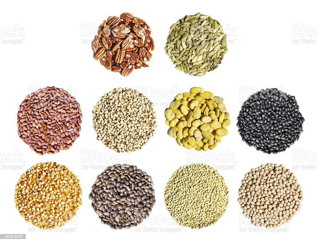 Cereal, grain and seeds stock photo