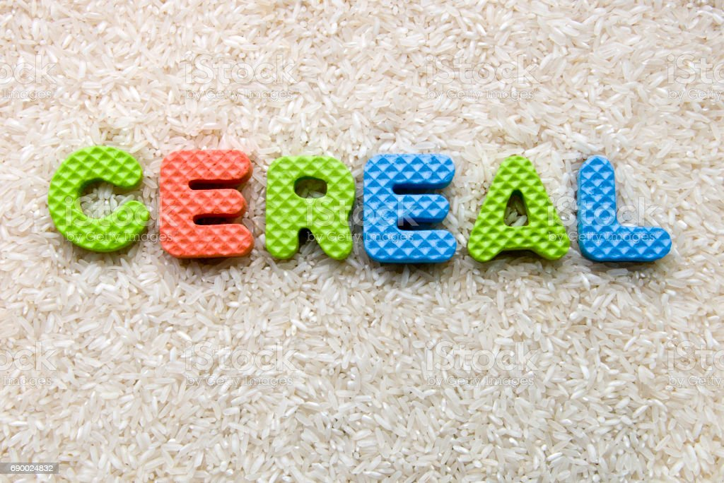 cereal sign stock photo