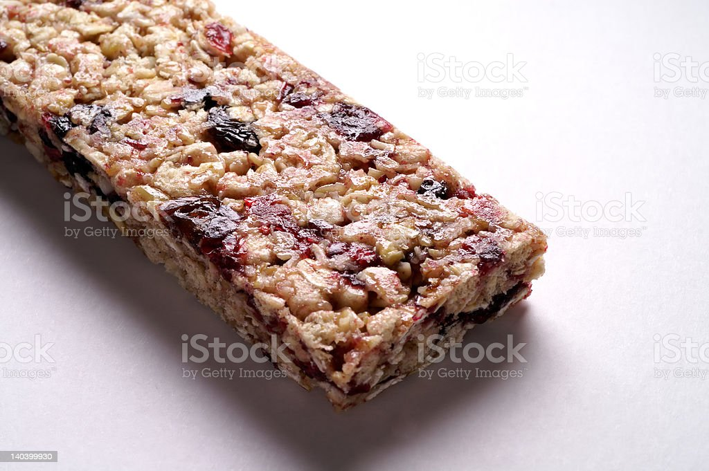 Cereal snack bar with wild berries royalty-free stock photo
