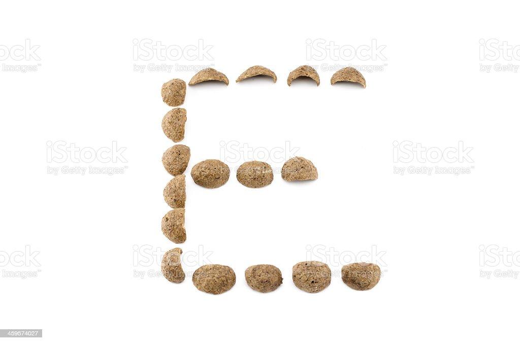 cereals alphabet isolated on white stock photo