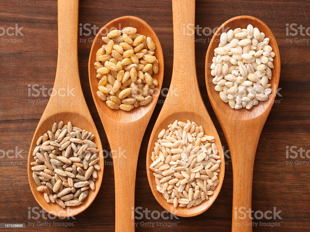 Cereals and spoons royalty-free stock photo