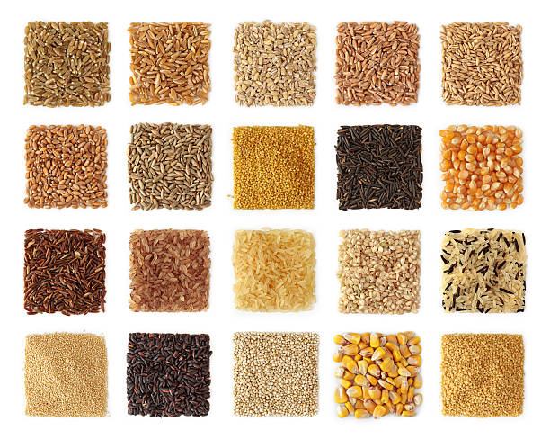 Cereals collection Cereals collection isolated on white background rice cereal plant stock pictures, royalty-free photos & images