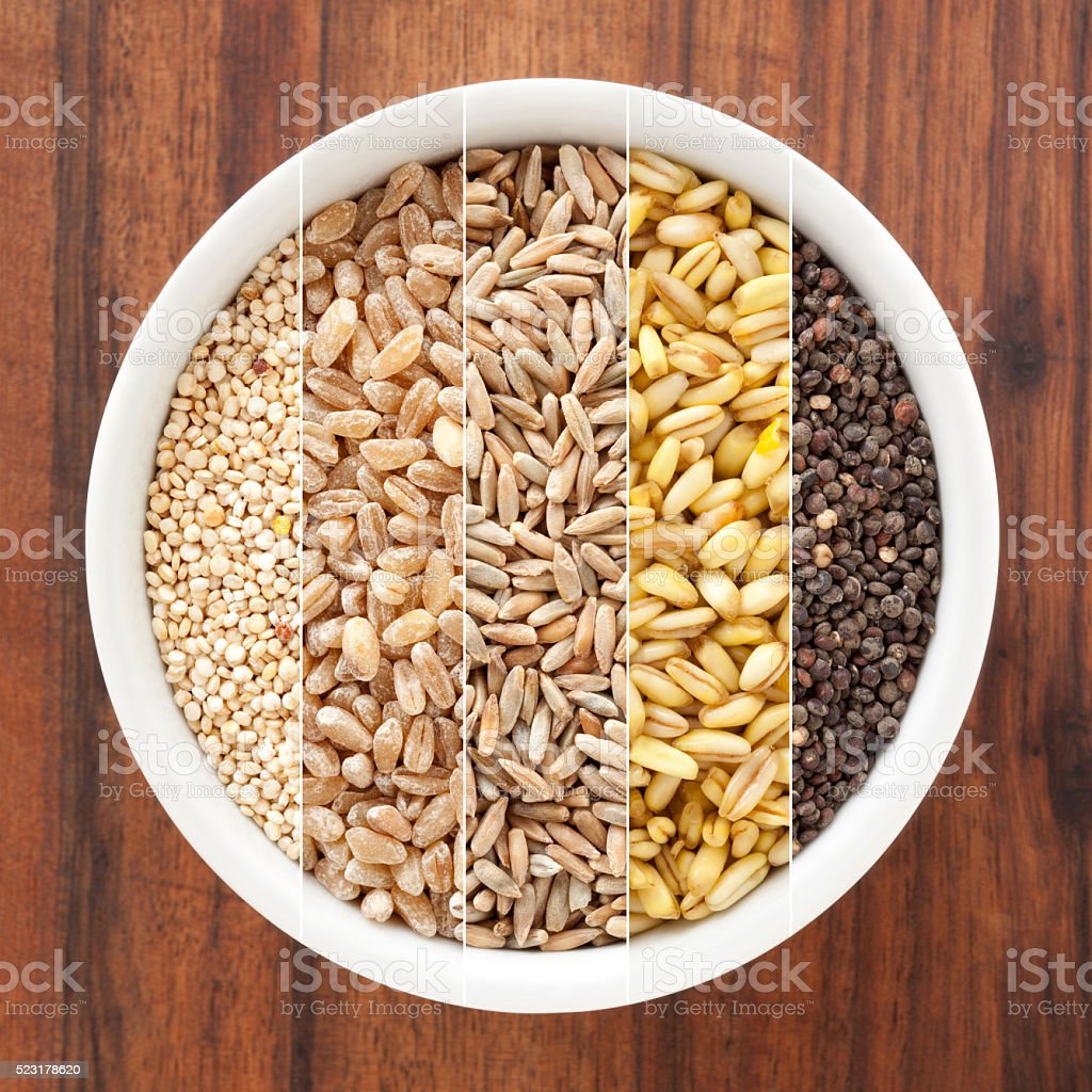 Cereals composition stock photo
