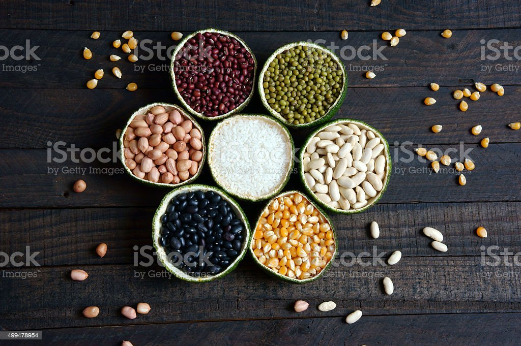 cereals, healthy food, fibre, protein, grain, antioxidant stock photo