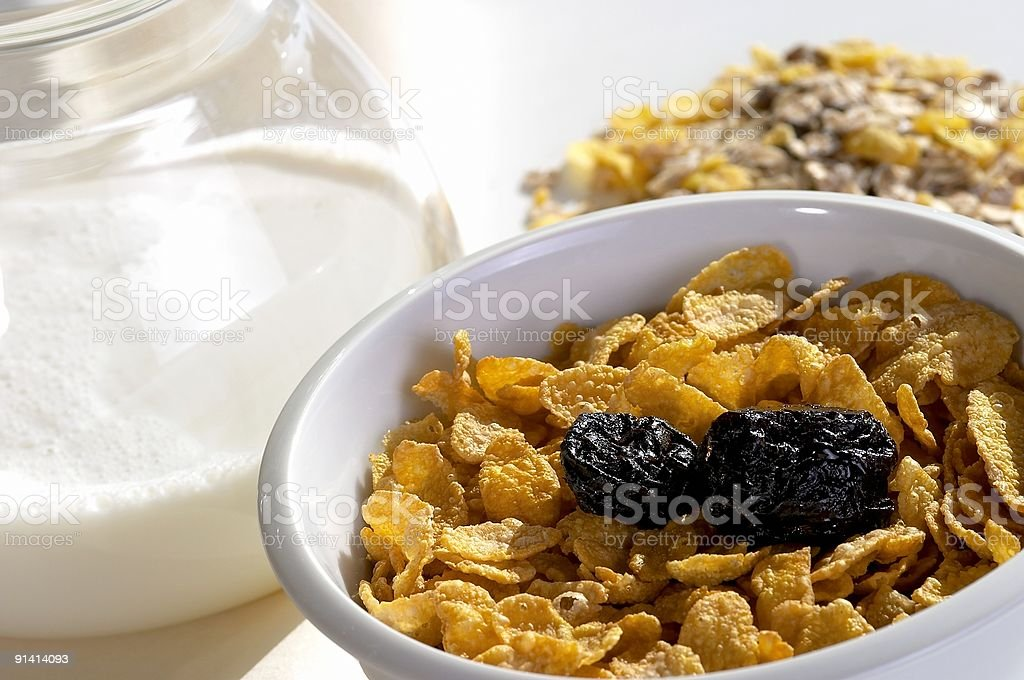 cereals in a bowl stock photo