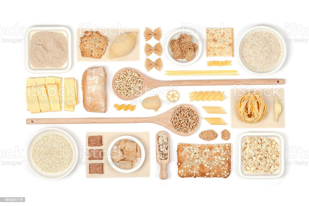 cereals on white background stock photo