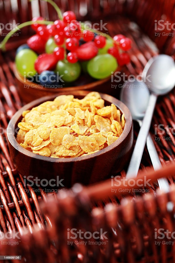 cereals with fresh fruits royalty-free stock photo