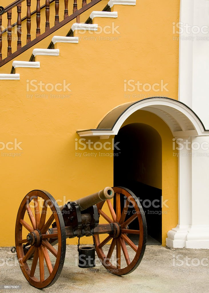 Ceremonial cannon, Willemstad, Curacao royalty-free stock photo
