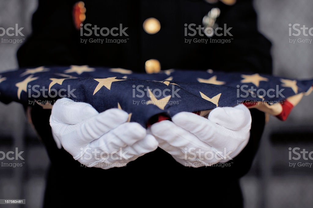 Ceremonial Flag offering stock photo