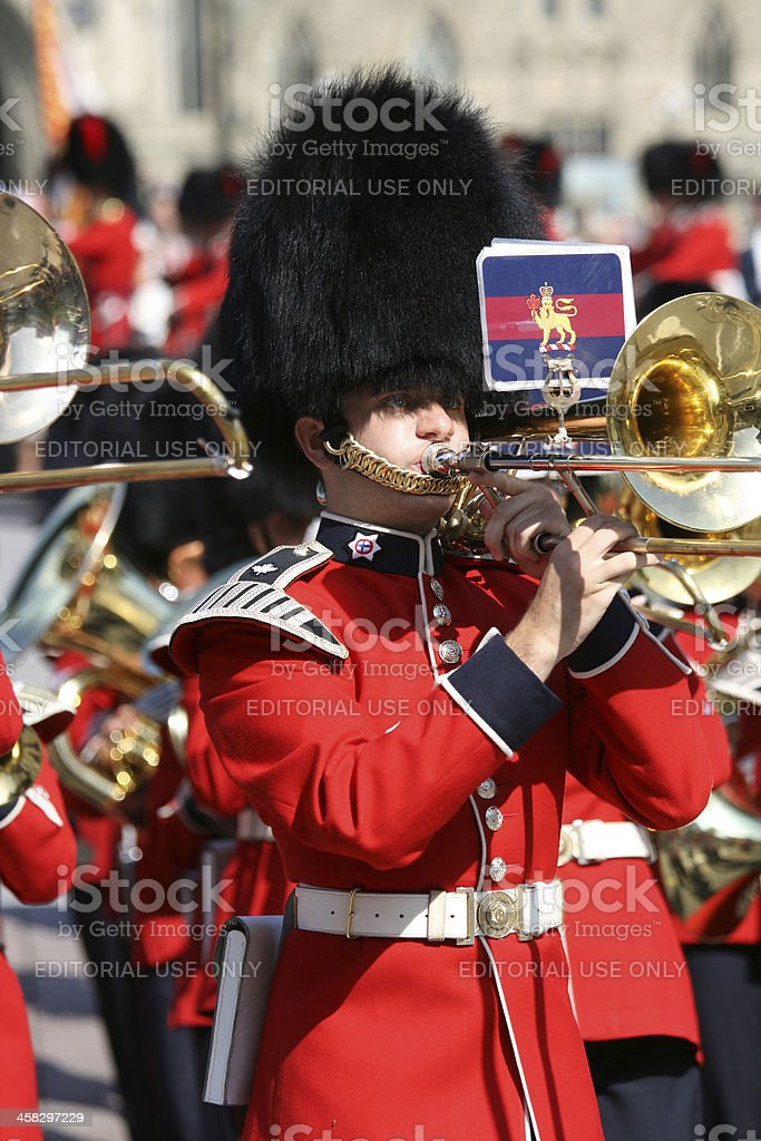 Ceremonial Guards Marching Band royalty-free stock photo