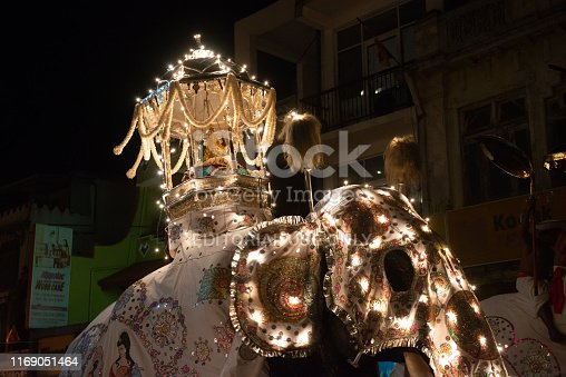 Kandy, Sri Lanka : August-05-2019 : Esala Perahera parade also known as the festival of celebrated the Buddha tooth relics.