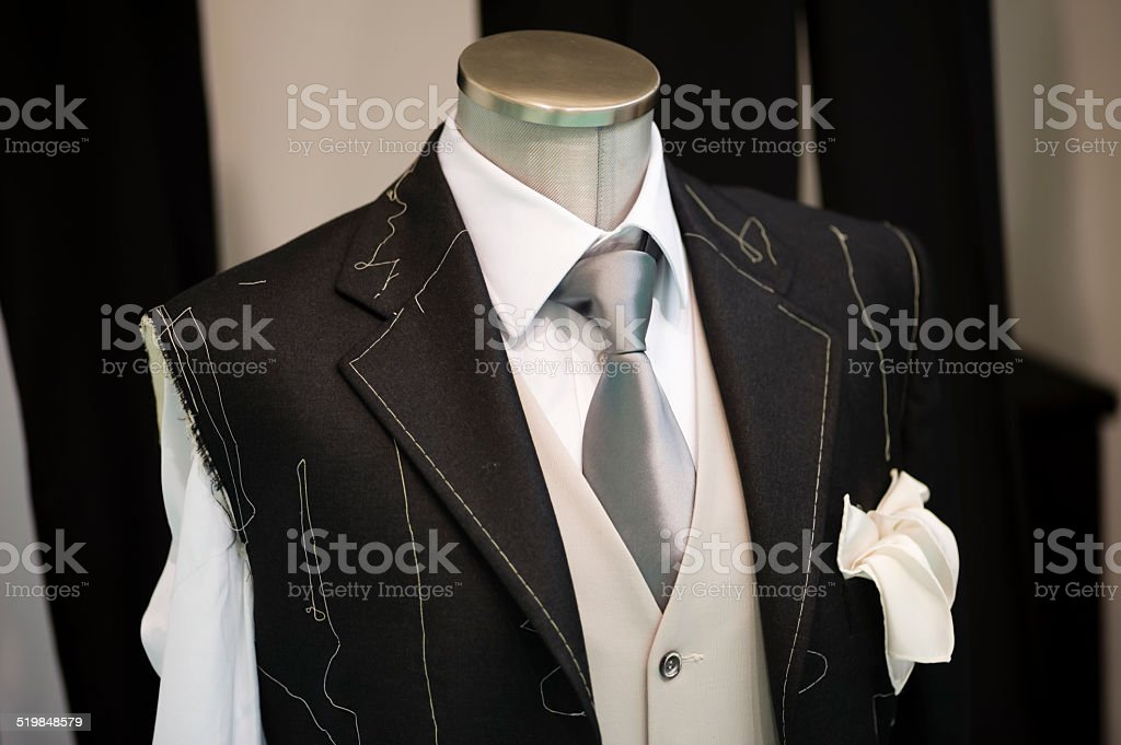 Ceremony handmade Suit technique stock photo