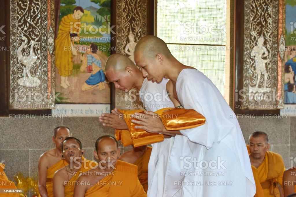僧侶になるタイの人々 の儀式 - アジア大陸のロイヤリティフリーストックフォト