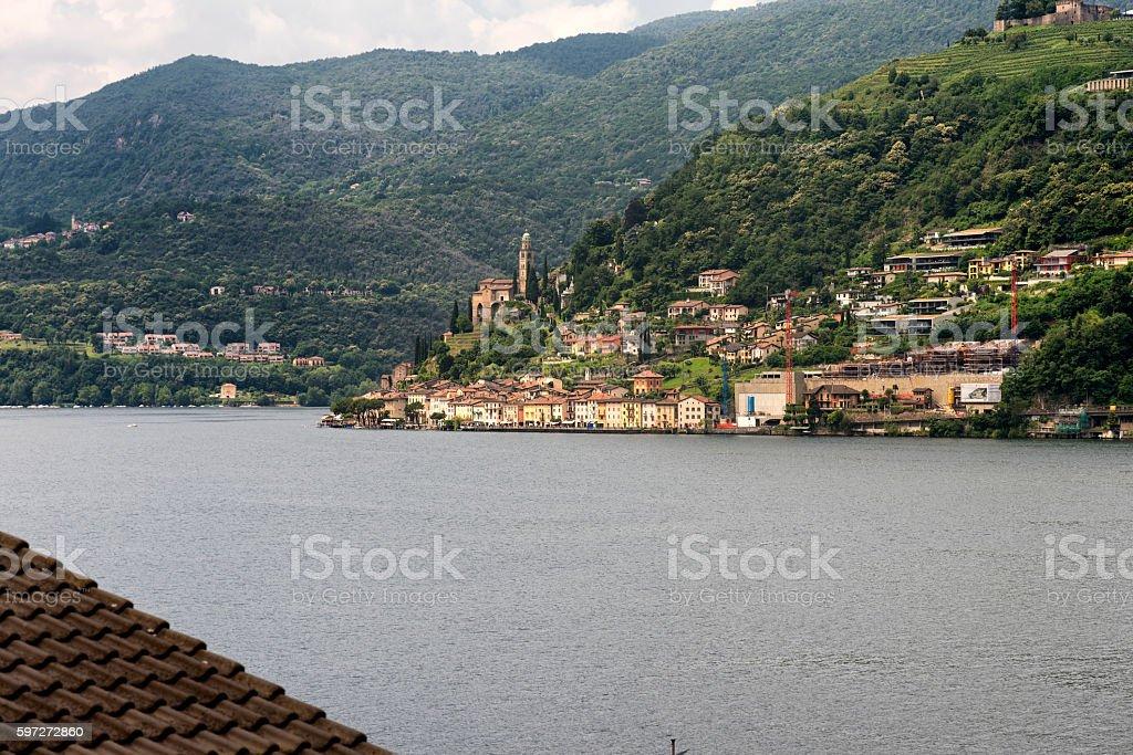 Ceresio lake (Ticino, Switzerland) royalty-free stock photo