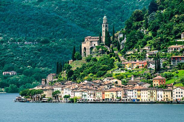 Ceresio lake (Ticino, Switzerland) - foto de acervo
