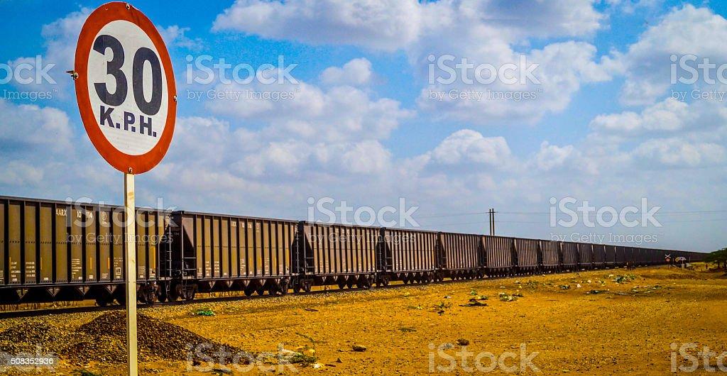 Cerrejón train stock photo