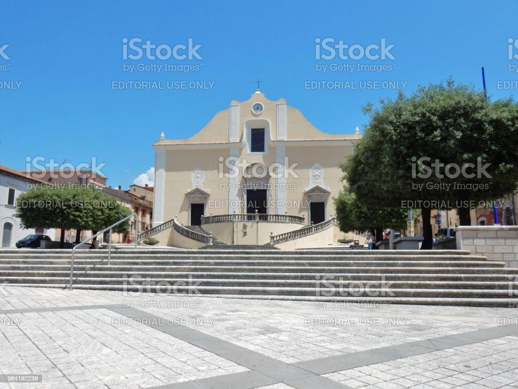 Cerreto Sannita - Parish of San Martino Vescovo - foto stock