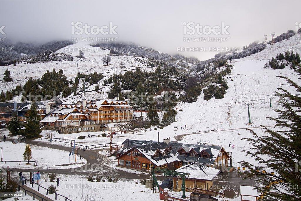 Cerro Catedral in Bariloche stock photo