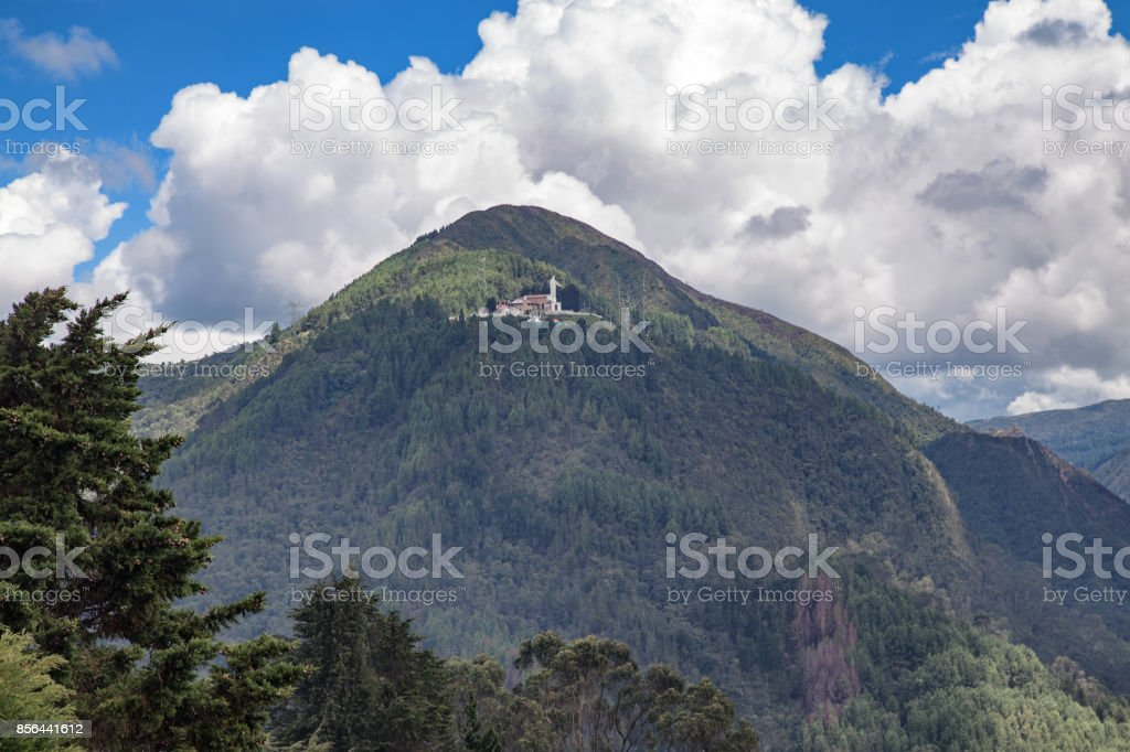 Cerro De Guadalupe in Bogota stock photo