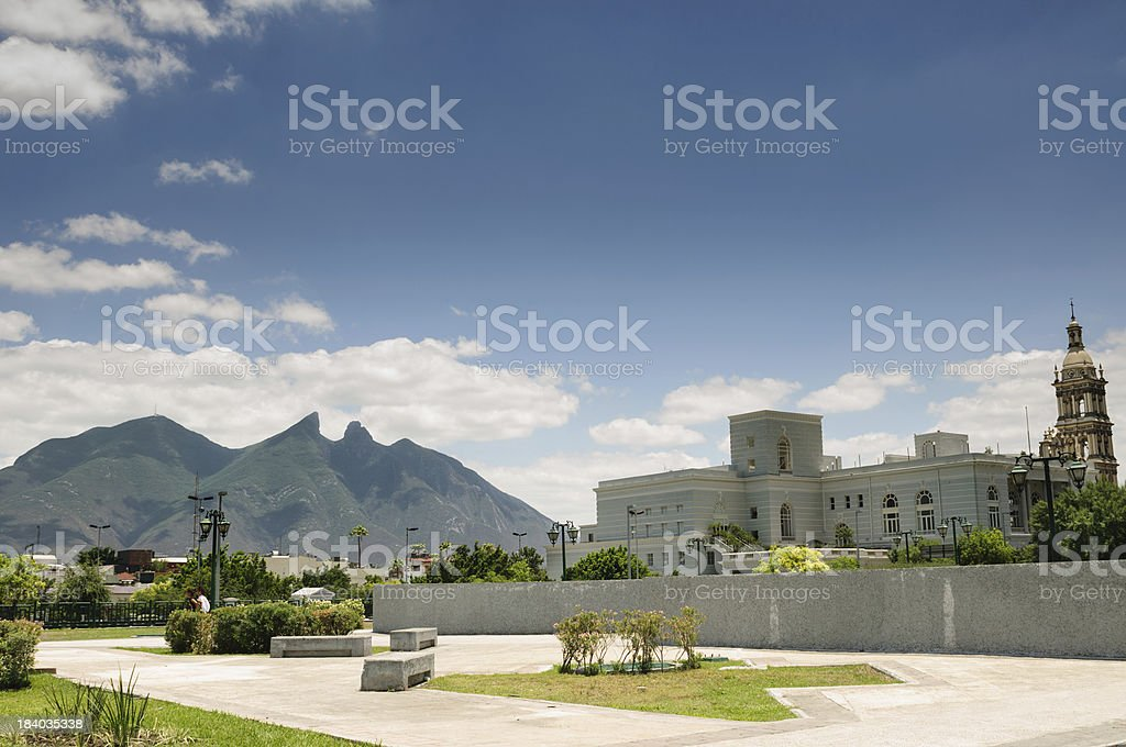 Cerro de la Silla - Monterrey stock photo