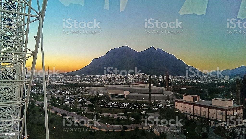 Cerro de la silla naranja stock photo
