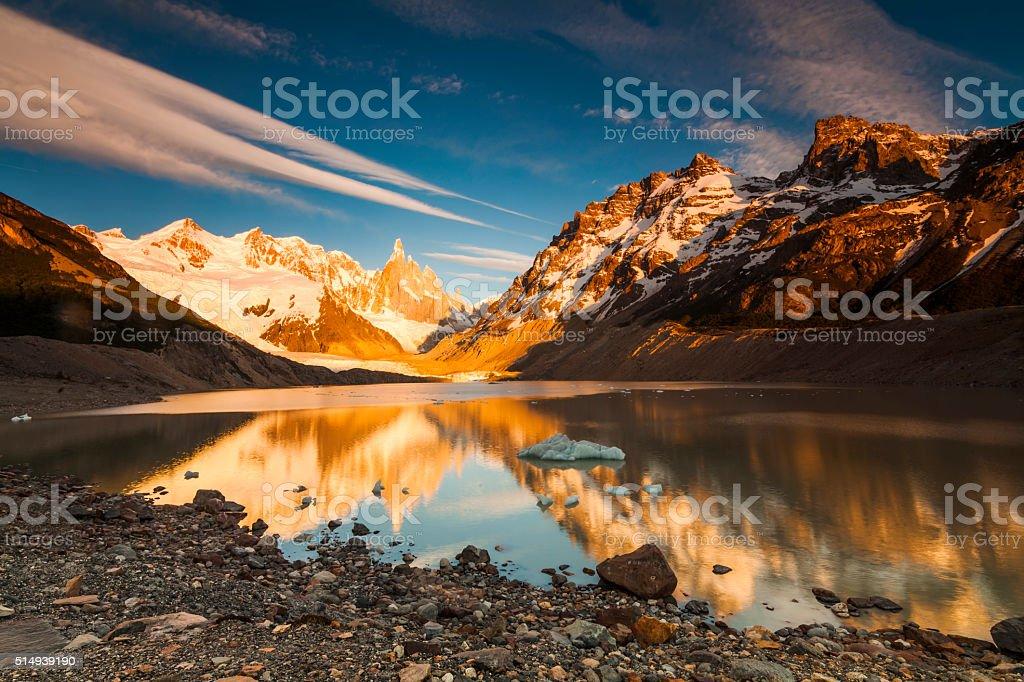 Cerro Torre, Los Glaciares National Park, Patagonia, Argentina stock photo
