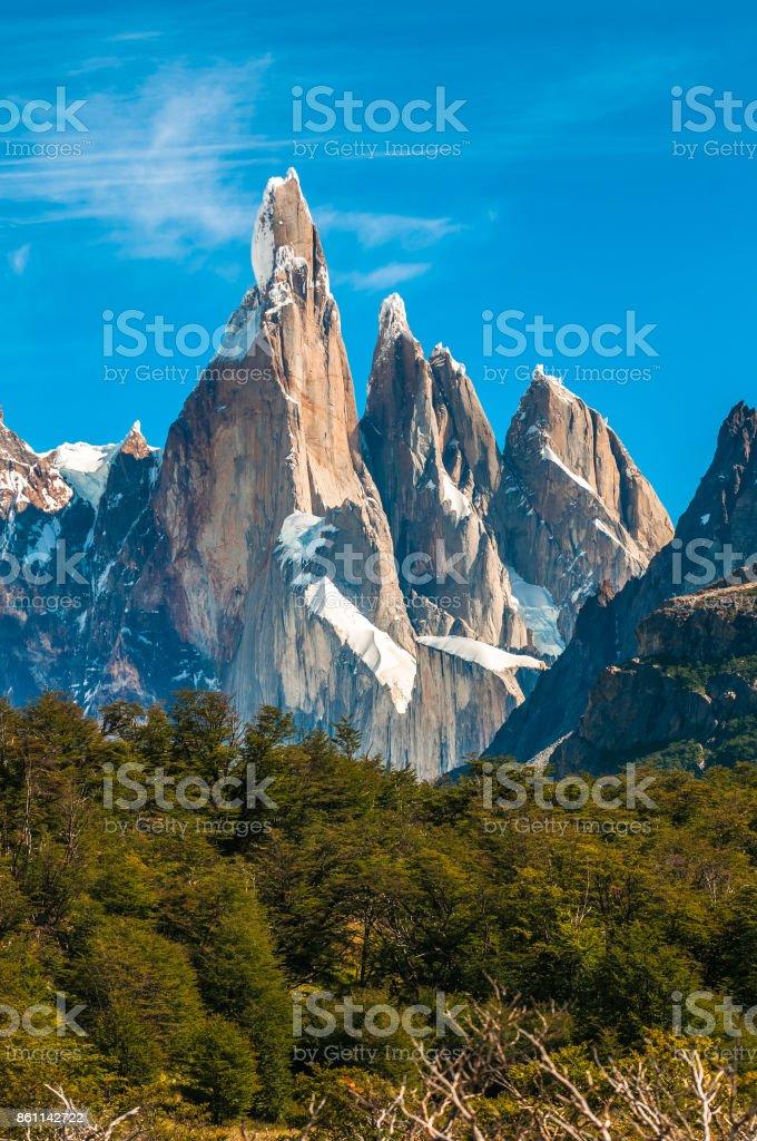 Cerro Torre mountain, Patagonia, Argentina stock photo