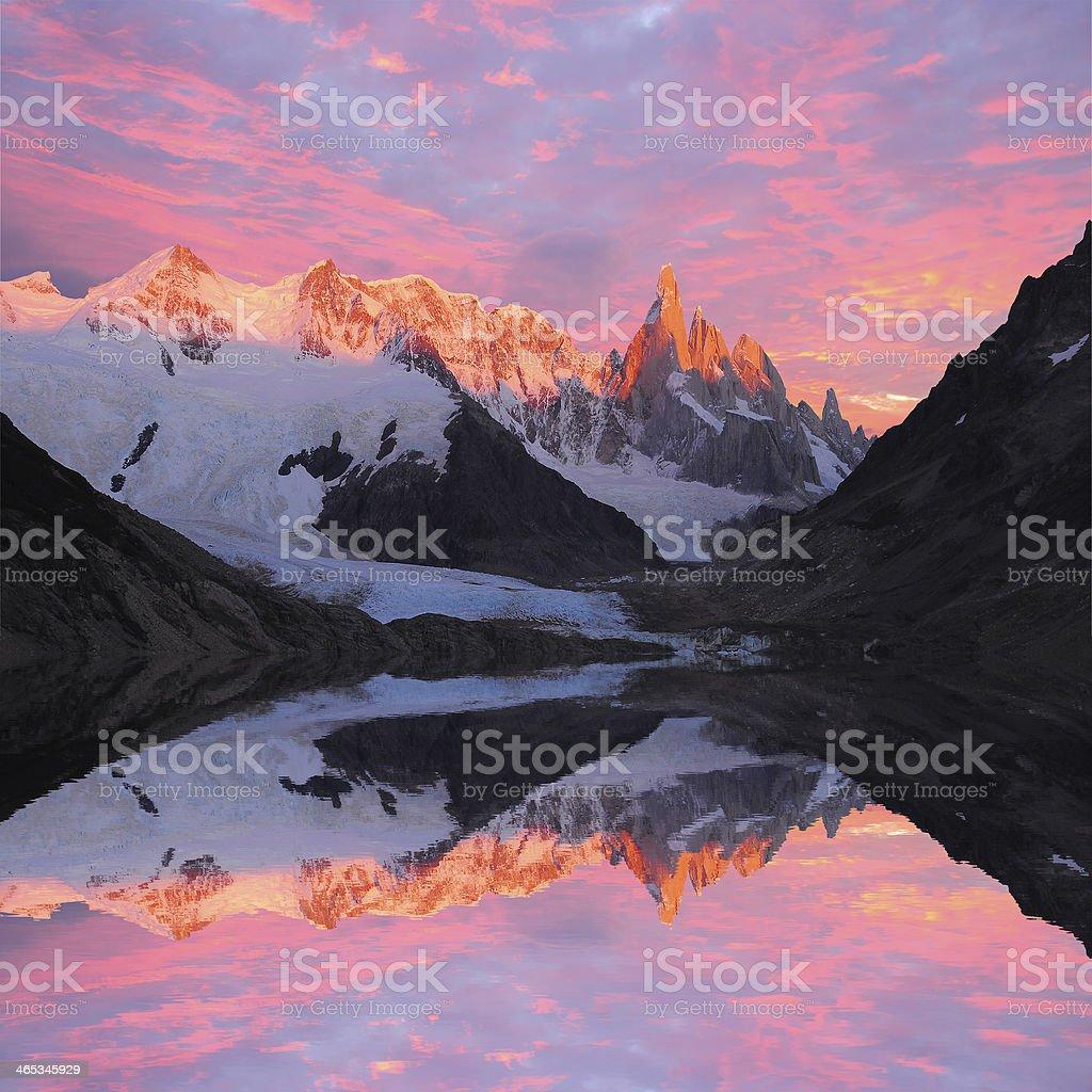 Cerro Torre mountain. royalty-free stock photo
