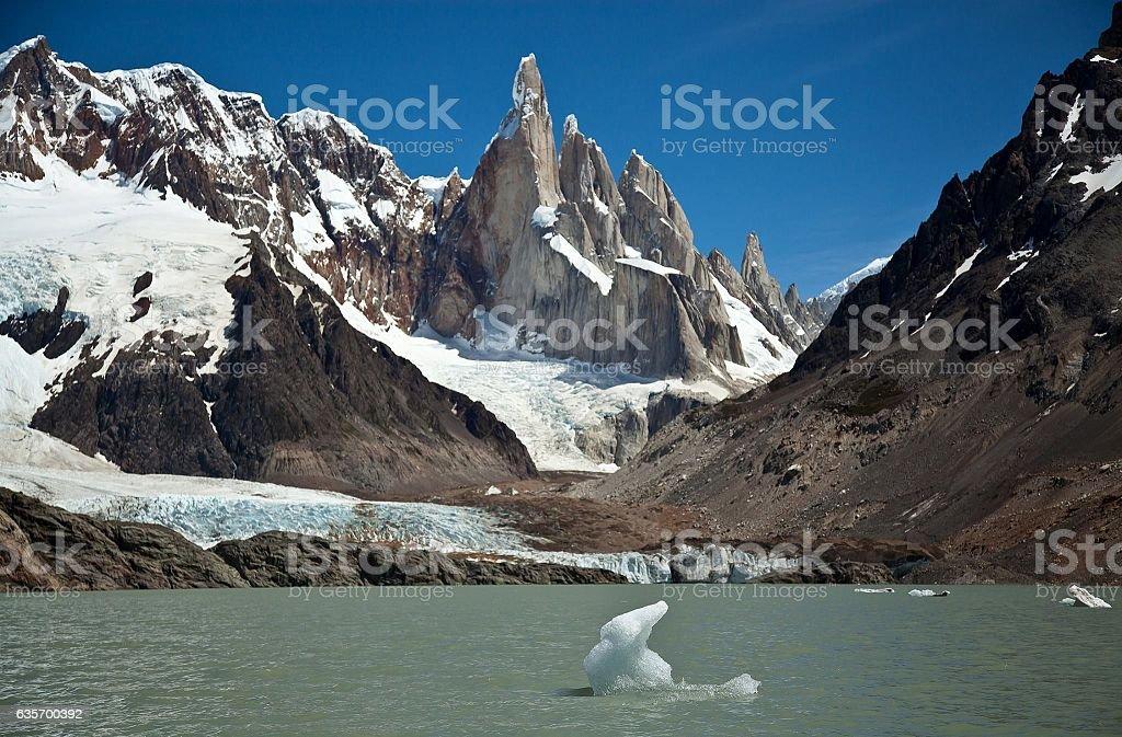Cerro Torre Rock royalty-free stock photo